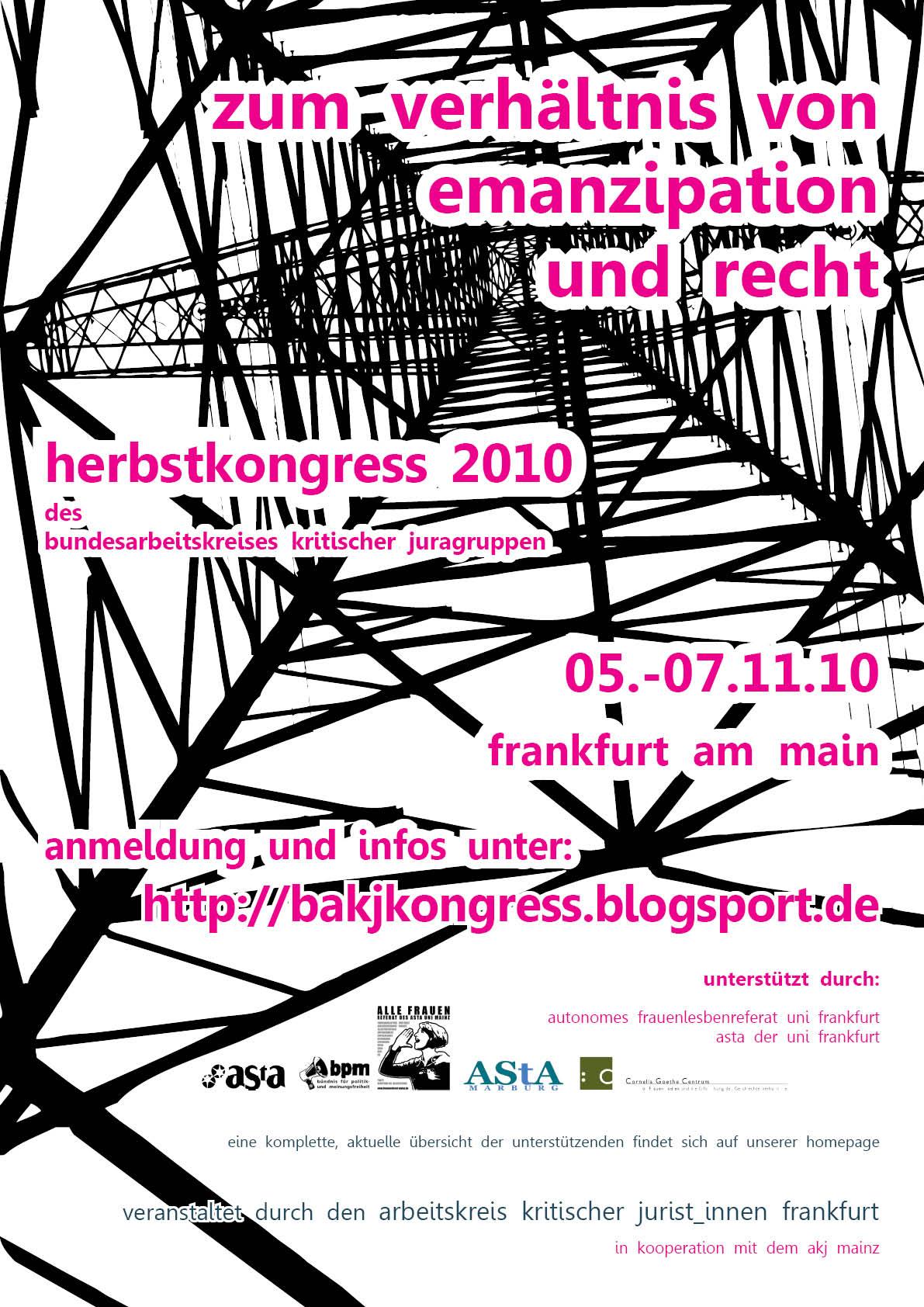 Plakat BAKJ Kongress Frankfurt 2010